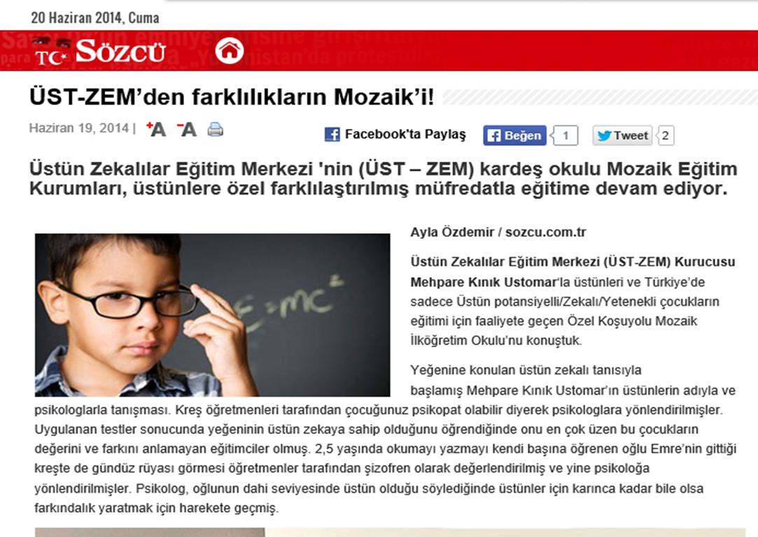 sozcu.com.tr Röportajımız