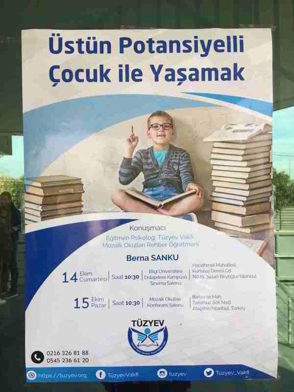 """Tüzyev Anadolu Yakası """"Üstün Potansiyelli Çocuk İle Yaşamak"""" Adlı Seminerimizden Kareler"""