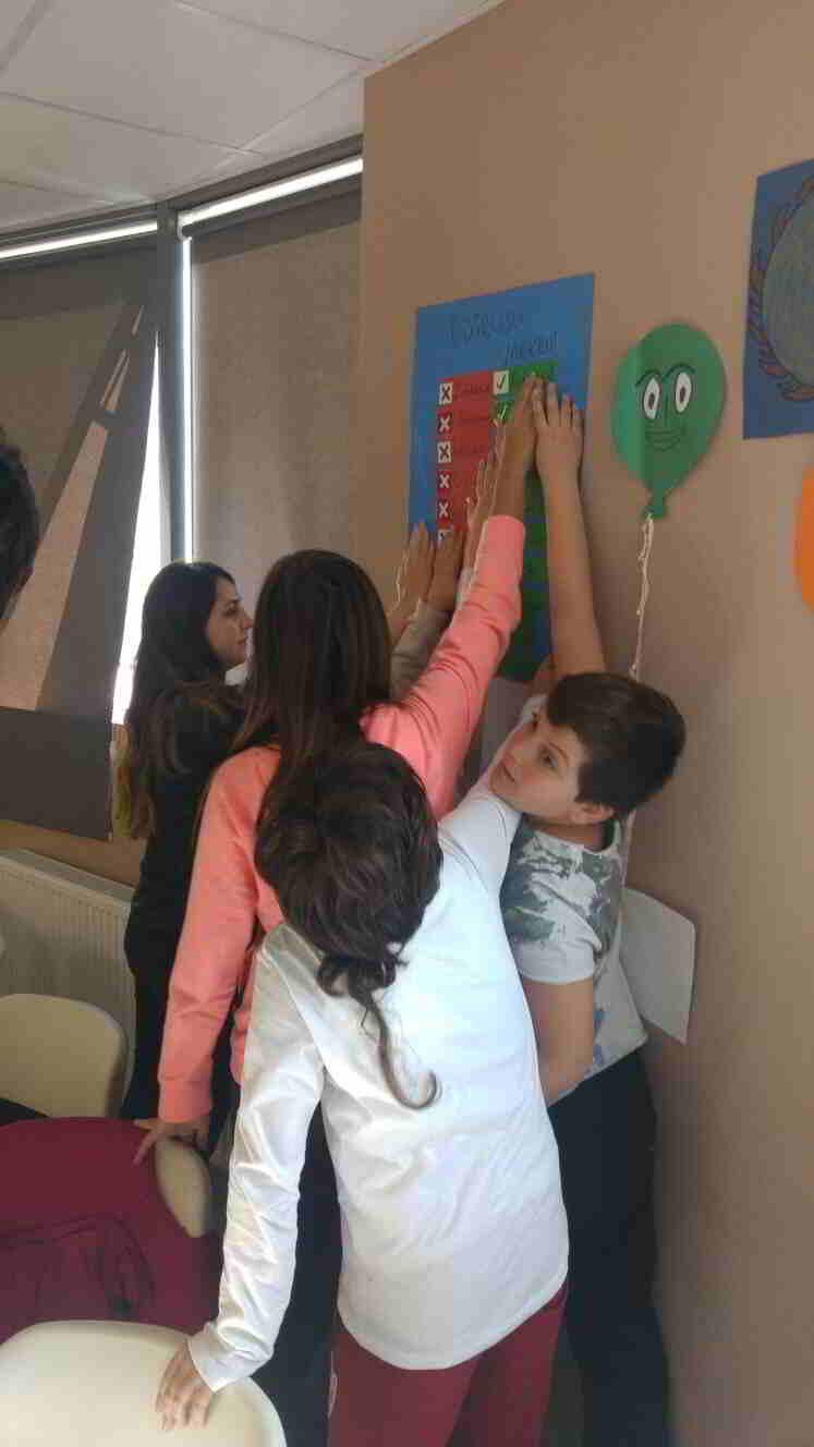 Türkçe dersimizde yazımı sıkça karıştırılan kelimeleri belirledik ve bu kelimelerin doğru ve yanlış yazımlarını pano halinde sınıfımızda sergiledik.