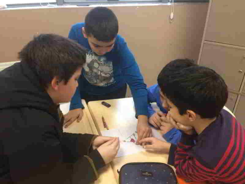 Matematik dersimizde kendi oyunumuzu kendimiz yaptık